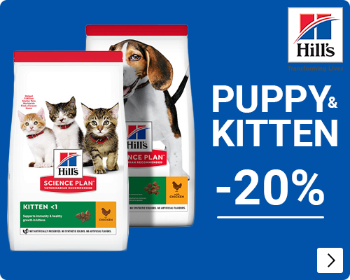 Hills puppy & kittenvoer 20% korting - DOG & CAT